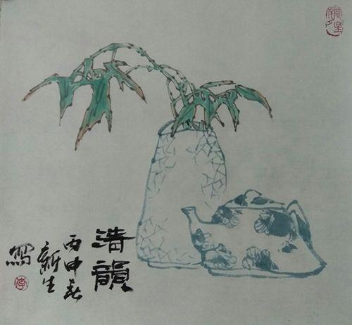 青花小品(32X32)