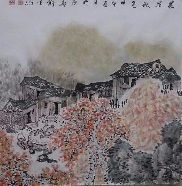 农庄秋色(68X68)