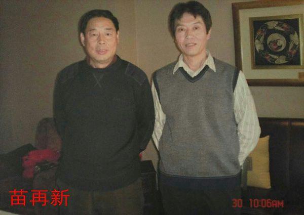 4与中国美协理事、中国画学会常务理事、中国画研究院研究员著名书画家苗再新先生合影