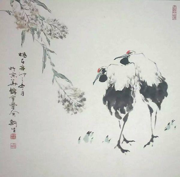 双鹤图(68X68)